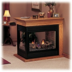 Vented Gas Fireplace Peninsula 624DVPF