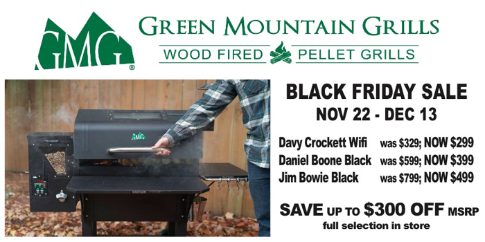 The Fireplace Showcase - Green Mountain Grills Black Friday Sale