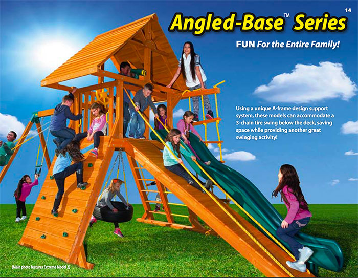 The Fireplace Showcase - ANGLED BASE SERIES SWINGSETS