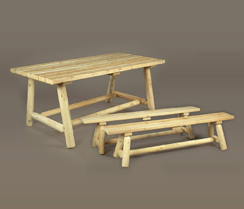 Classic Farmer's Table and Bench Set