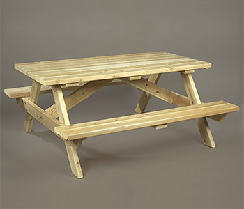 Log Picnic Table