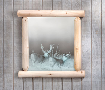 Wilderness Mirror With Etching