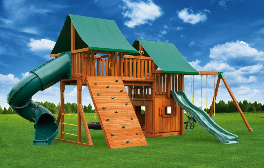 Fantasy jungle gyms ma ri eastern jungle gym swing sets for Jungle gym home