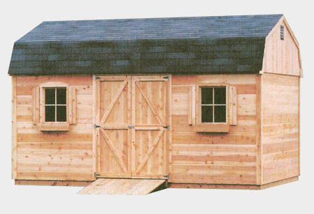 Gambrel Wood Shed