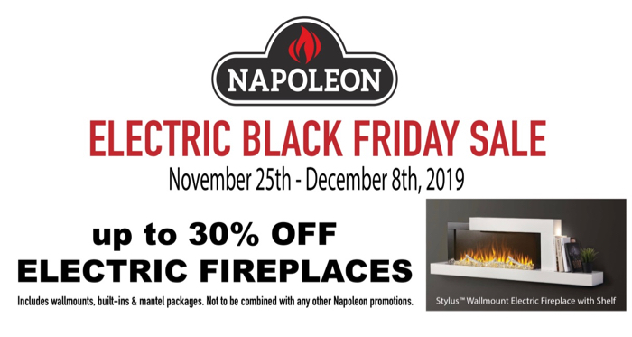 The Fireplace Showcase - Napoleon Electric Black Friday Sale!