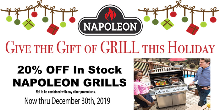 The Fireplace Showcase, Seekonk, MA - Napoleon Grill Holiday Sale