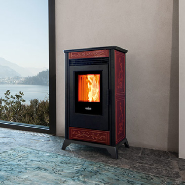 Ravelli Pellet Stoves Rv80 C The Fireplace Showcase