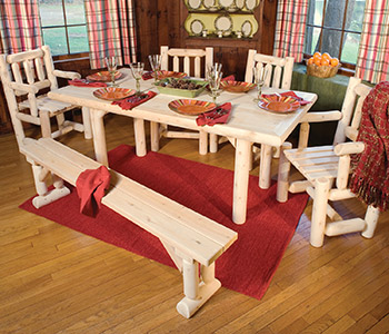 Six Piece Solid Top Dining Table Set